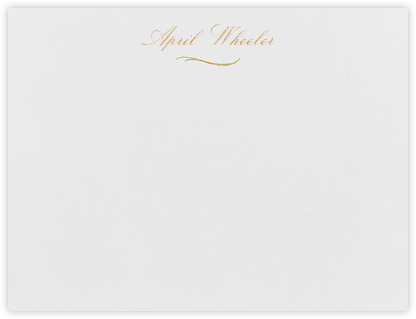 Bethesda - Medium Gold - Paperless Post - Personalized Stationery