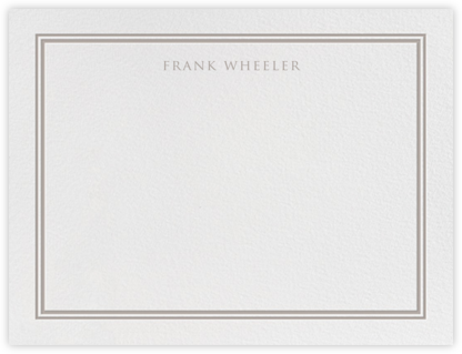 Beacon Hill - Taupe - Paperless Post - Personalized Stationery