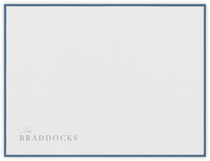 Newport - French Blue - Paperless Post - Personalized Stationery