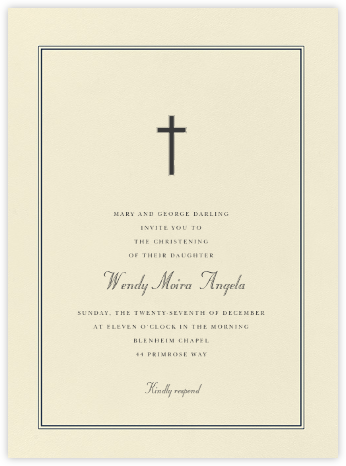 Chartres - Charcoal Gray - Paperless Post - Baptism invitations
