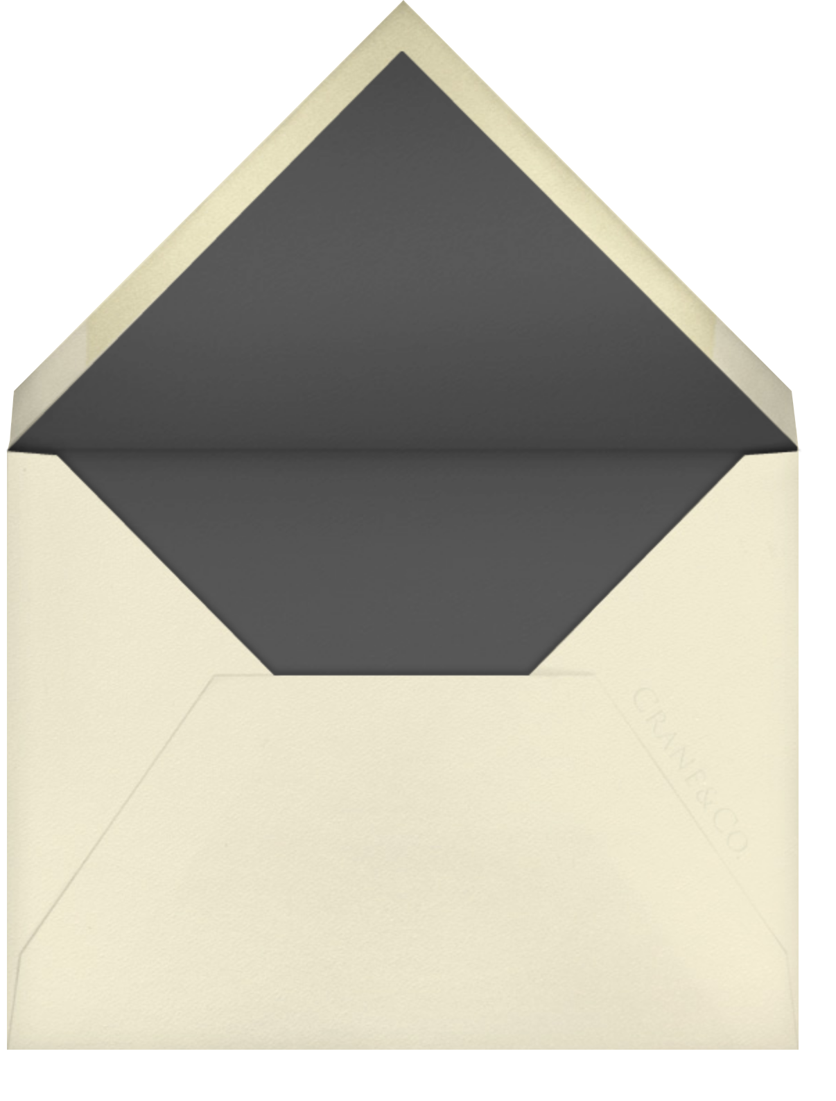 Chartres - Charcoal Gray - Paperless Post - Envelope