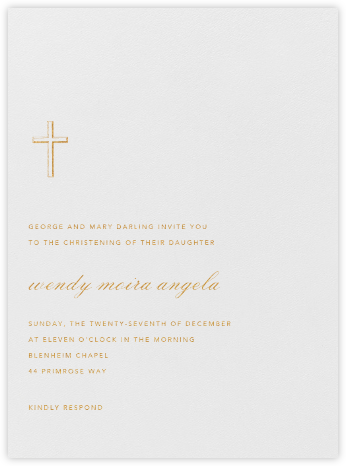 Malaga - Medium Gold - Paperless Post - Baptism invitations