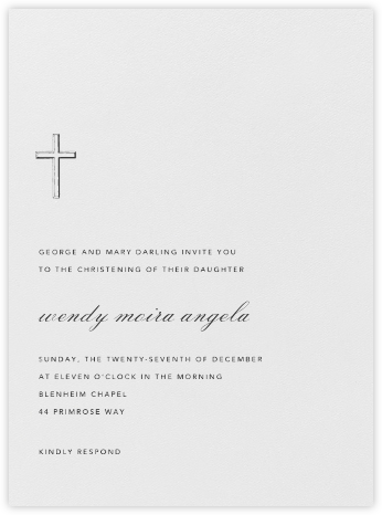 Malaga - Charcoal Gray - Paperless Post - Baptism invitations