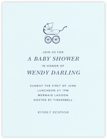 Primrose Hill Nursery - Navy - Paperless Post - Baby Shower Invitations