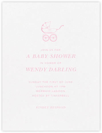 Primrose Hill Nursery - Peony - Paperless Post - Baby Shower Invitations