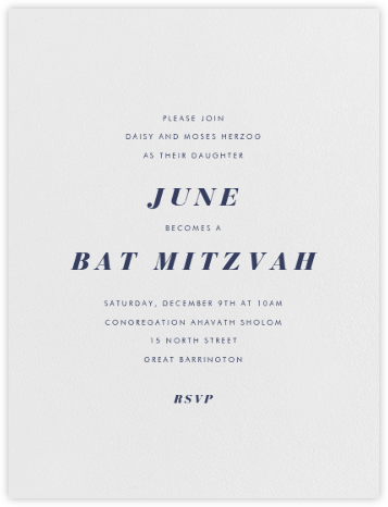 Barkley - Pearl White - Paperless Post - Bar and Bat Mitzvah Invitations