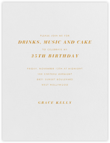 Barkley - Pearl White - Paperless Post - Adult Birthday Invitations
