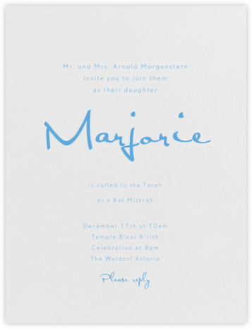 June - Pearl White - Paperless Post - Bar and Bat Mitzvah Invitations