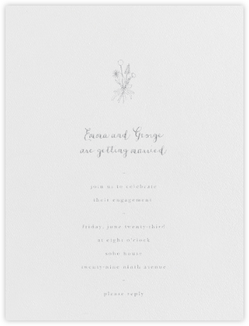 Antonia - Silver - Paperless Post - Engagement party invitations