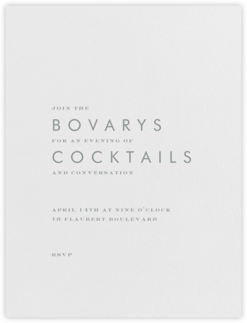 Brigid - Pewter Gray - Paperless Post - General Entertaining Invitations
