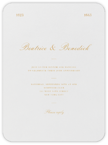 Darlington - Gold - Paperless Post - Celebration invitations