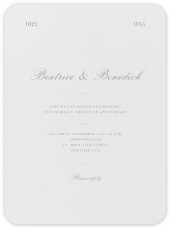Darlington - Pewter Gray - Paperless Post - Celebration invitations