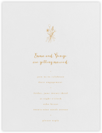 Antonia - Gold - Paperless Post - Engagement party invitations