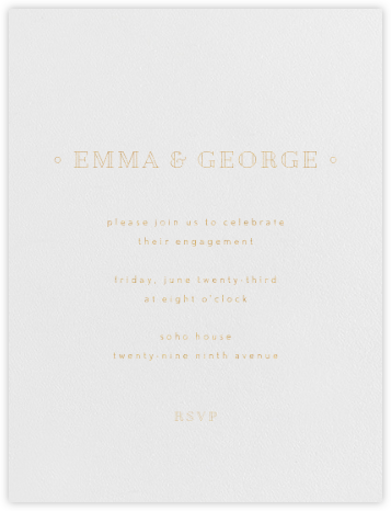 Candace - Gold - Paperless Post - Engagement party invitations