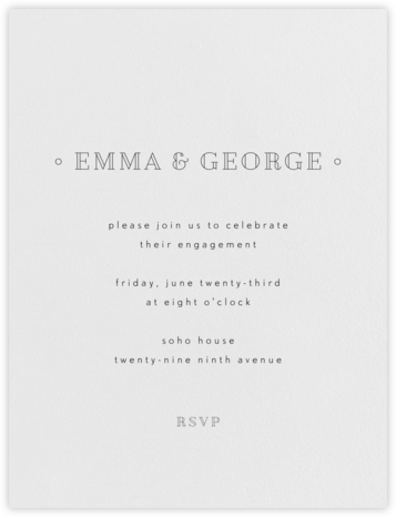 Candace - Black - Paperless Post - Engagement party invitations