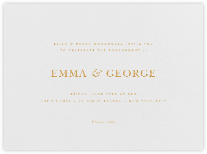 Wilcox - Gold - Paperless Post - Engagement party invitations