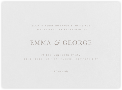 Wilcox - Taupe - Paperless Post - Engagement party invitations