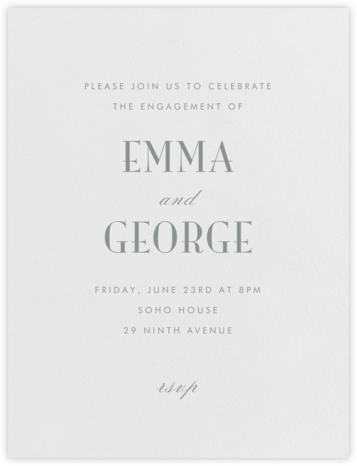 Armory - Pewter Gray - Paperless Post - Engagement party invitations