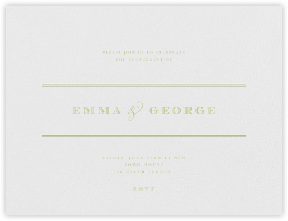 Emerson - Celery - Paperless Post - Engagement party invitations