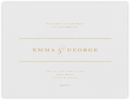 Emerson - Gold - Paperless Post - Engagement party invitations