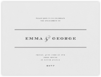 Emerson - Black - Paperless Post - Engagement party invitations