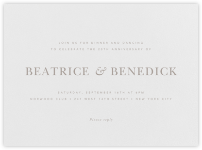 Wilcox - Taupe - Paperless Post - Celebration invitations