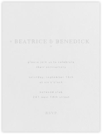 Candace - Silver (Platinum) - Paperless Post - Celebration invitations
