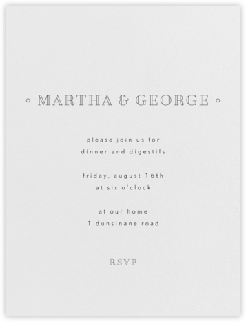 Candace - Black - Paperless Post - Dinner Party Invitations