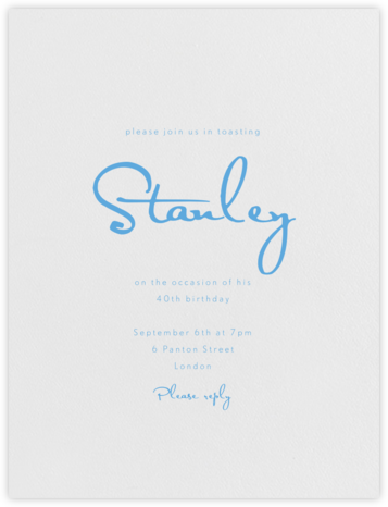 June - Pearl White (Newport Blue) - Paperless Post - Adult birthday invitations