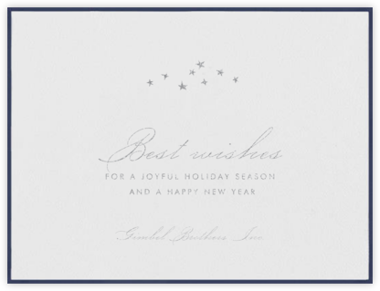 Galilei - Navy - Paperless Post - Holiday cards