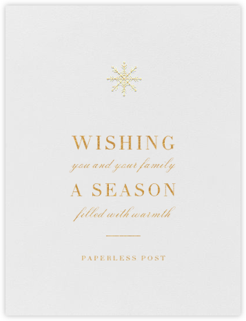 Descartes - Gold - Paperless Post - Holiday Cards