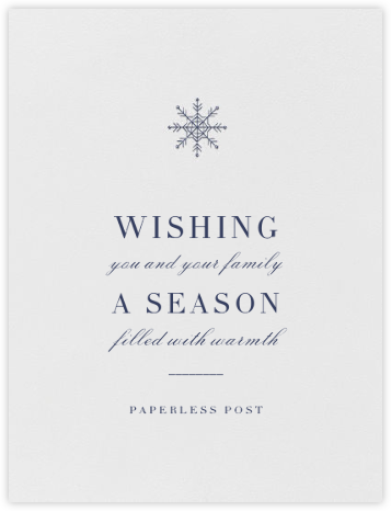 Descartes - Navy - Paperless Post - Company holiday cards