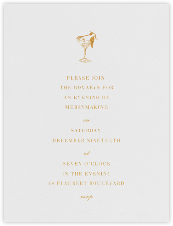 Tipsy Turvy - Gold - Paperless Post - Winter Party Invitations