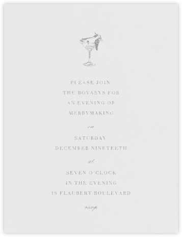 Tipsy Turvy - Platinum - Paperless Post - Holiday invitations
