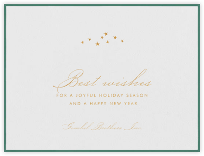 Galilei - Hunter Green - Paperless Post - Business holiday cards