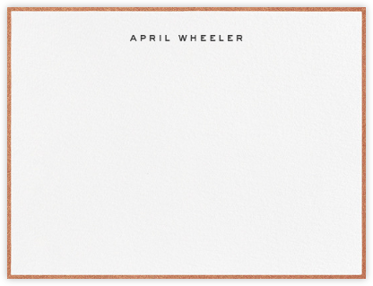 Gilded Edge - Copper - Paperless Post - Personalized Stationery