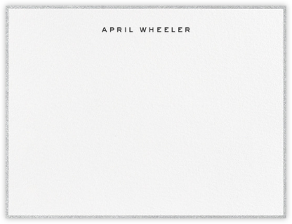 Gilded Edge - Silver - Paperless Post - Personalized Stationery