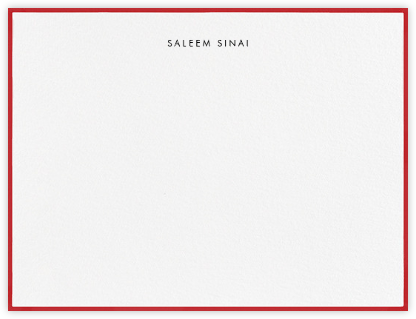 Painted Border - Red - Paperless Post - Personalized Stationery