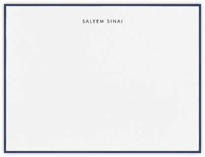 Painted Border - Navy - Paperless Post - Personalized stationery