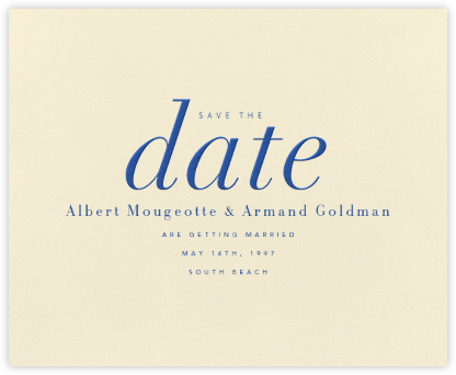 Pierre - Regent Blue - Paperless Post - Wedding Save the Dates