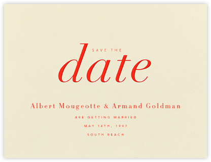 Pierre - Geranium  - Paperless Post - Save the dates