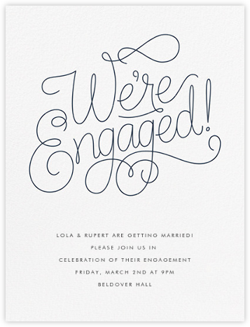 Bobbin I (Engagement) - Charcoal Gray - Paperless Post - Engagement party invitations