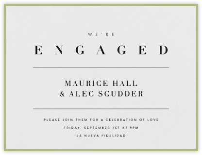 Octavo - Celery - Paperless Post - Engagement party invitations