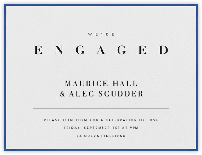 Octavo - Regent Blue - Paperless Post - Engagement party invitations