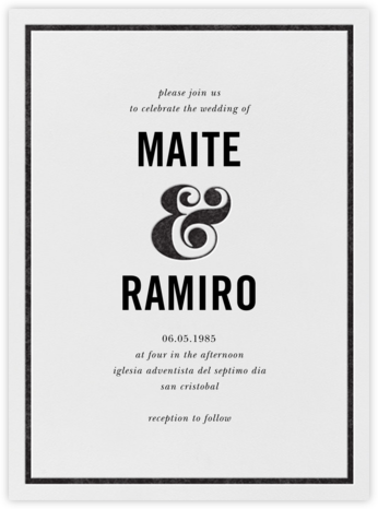 Ampersand (Invitation) - Black - kate spade new york -