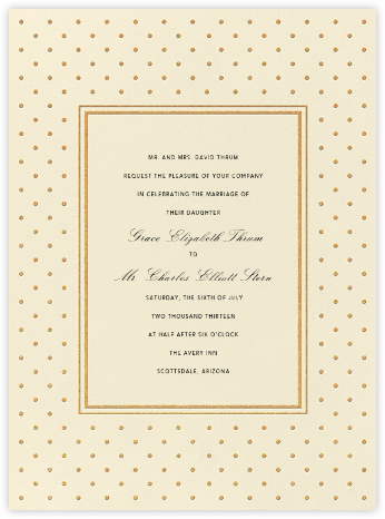 La Pavillion I (Invitation) - Gold - kate spade new york - Wedding Invitations