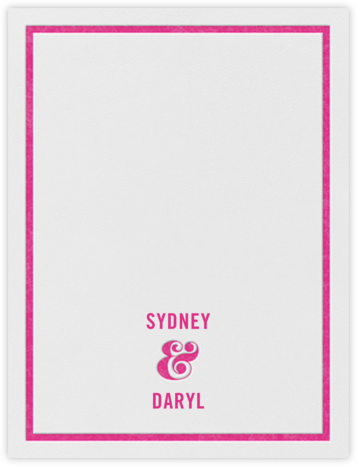 Ampersand (Stationery) - Raspberry - kate spade new york -