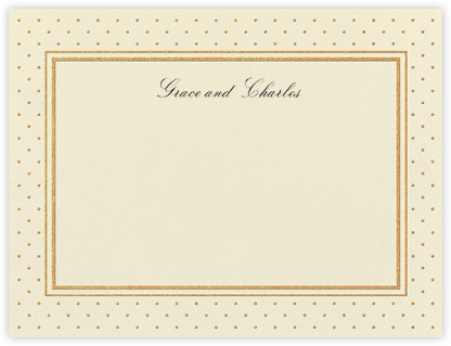 La Pavillion I (Stationery) - Gold - kate spade new york - Personalized Stationery