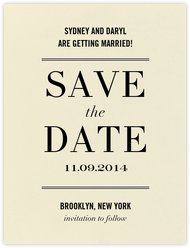 Typographic I (Save the Date)