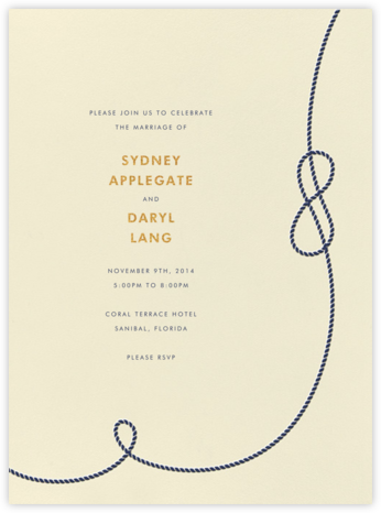 Nautical I - kate spade new york - Destination wedding invitations